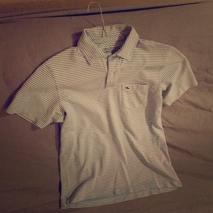 Vineyard Vines Baby-Blue Striped Polo